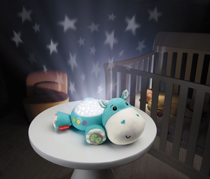 New Fisher Price Hippo Plush Projection Soother Musical