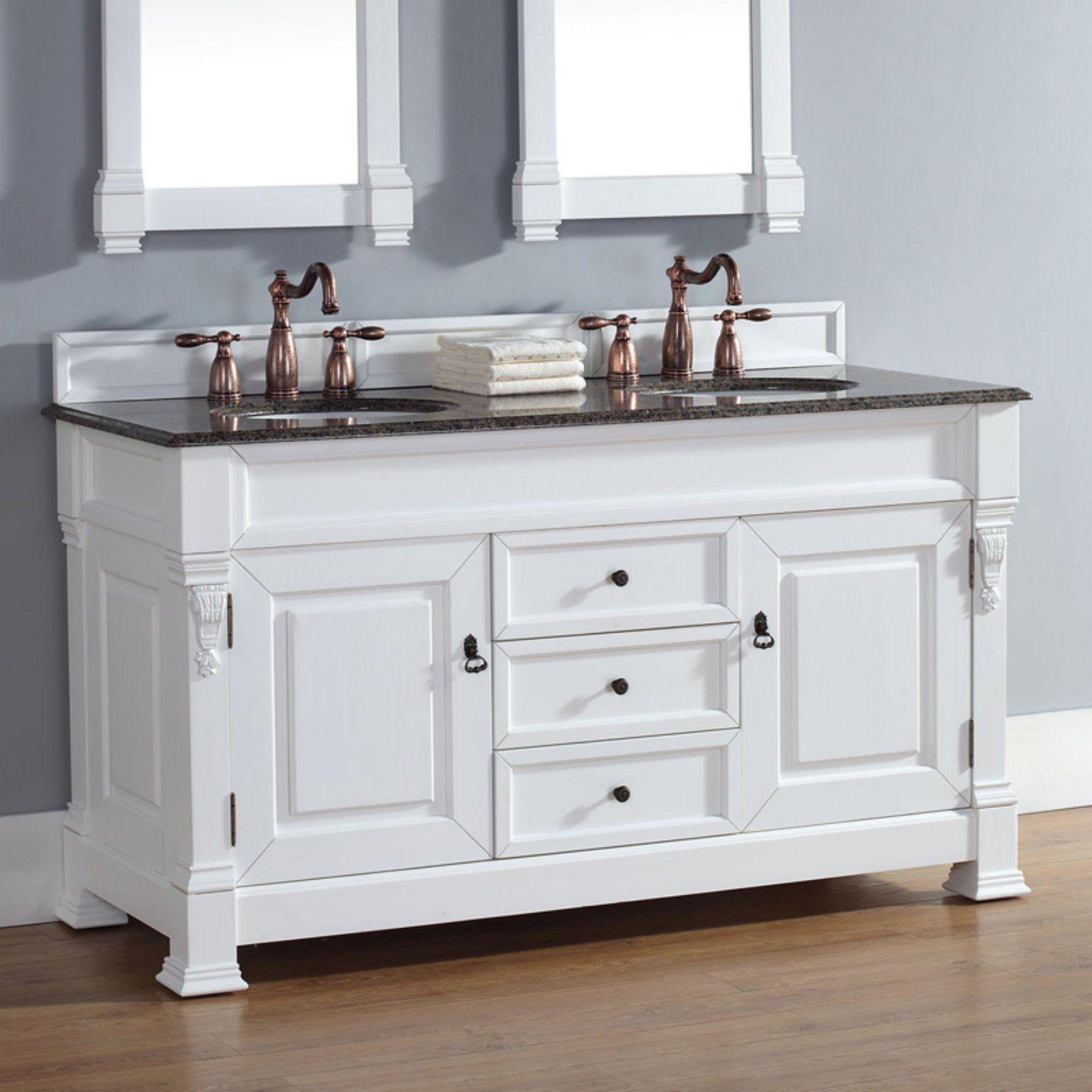 Badezimmer eitelkeiten mit lagerung james martin brookfield  in double bathroom vanity