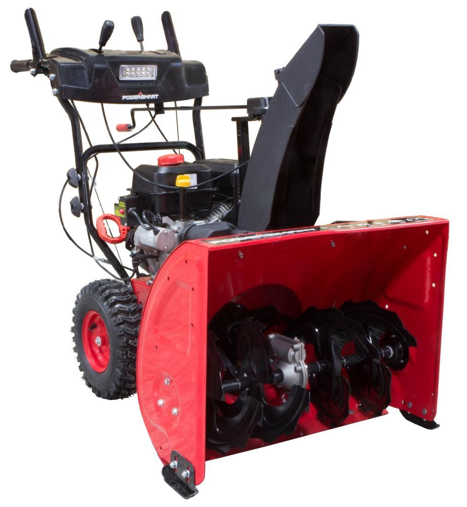 27 inch 212cc 2stage electric start gas snow blower gas