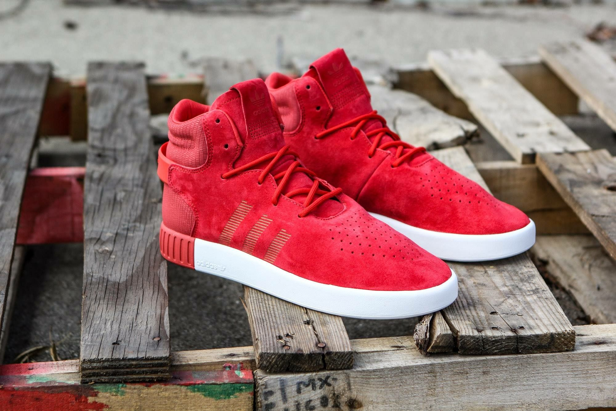 timeless design e1295 08ab0 adidas Originals Tubular Invader: Red | Adidas in 2019 ...