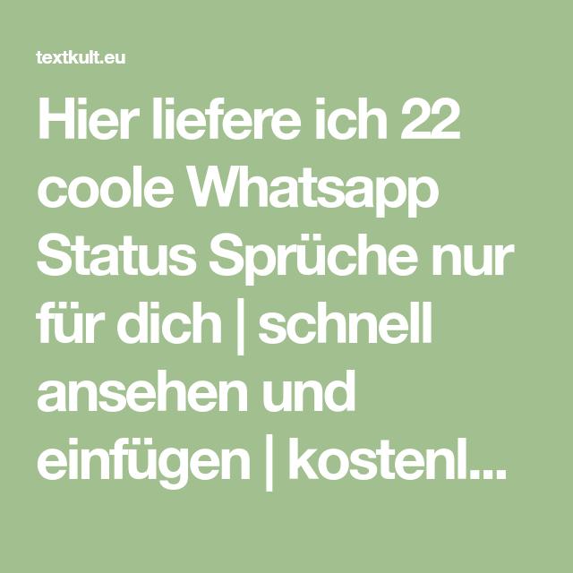 601 Besten Whatsapp Status Spruche 2020
