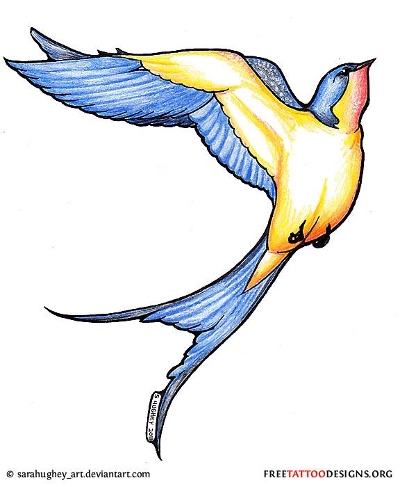 Flying Swallow Tattoo Design Good Information On The Symbolism Of