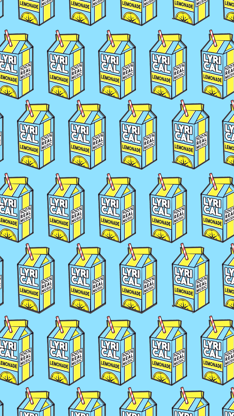 LYRICAL LEMONADE (BLUE) COLE LOGO WALLPAPER For
