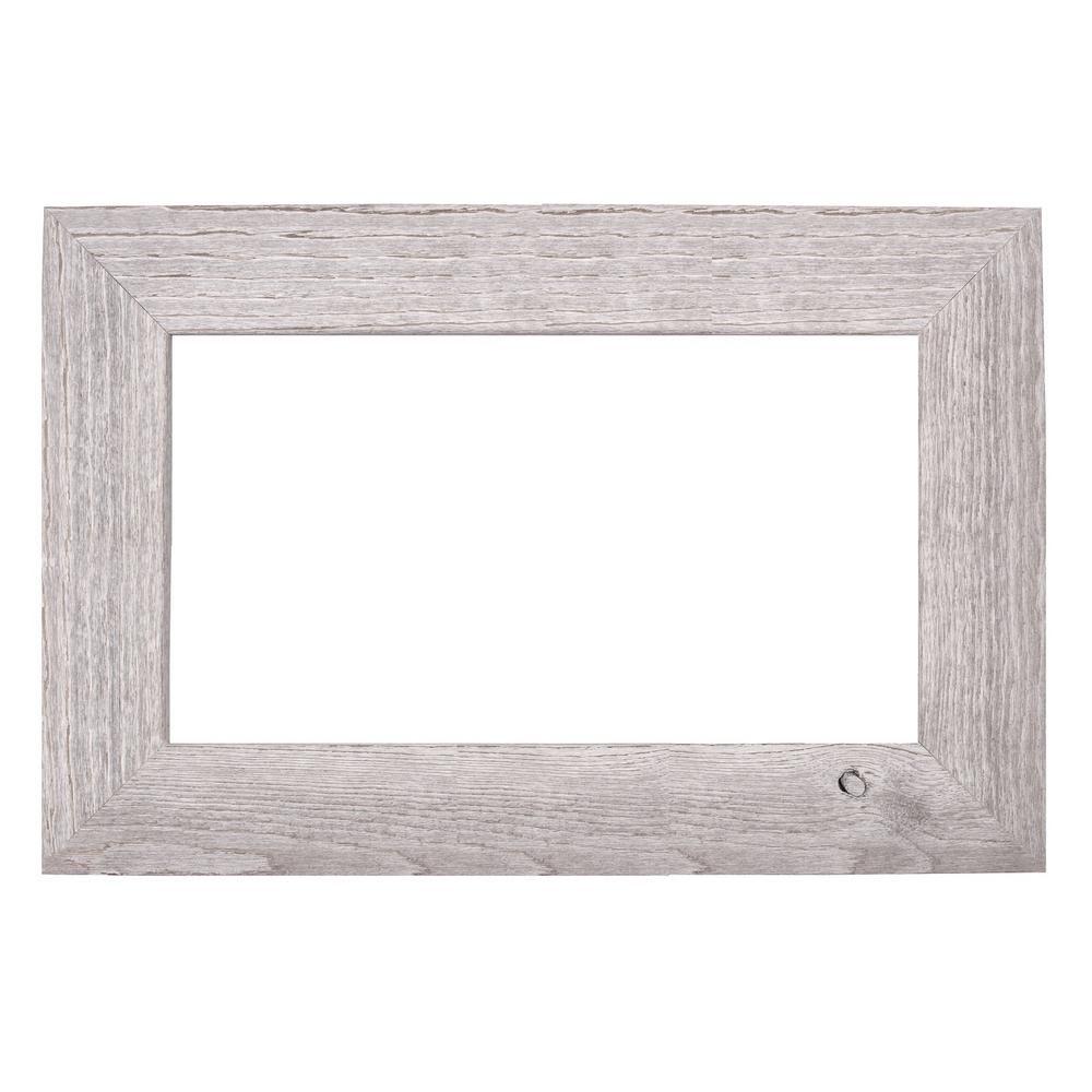 Mirrorchic Driftwood 60 In X 36 In Mirror Frame Kit In White