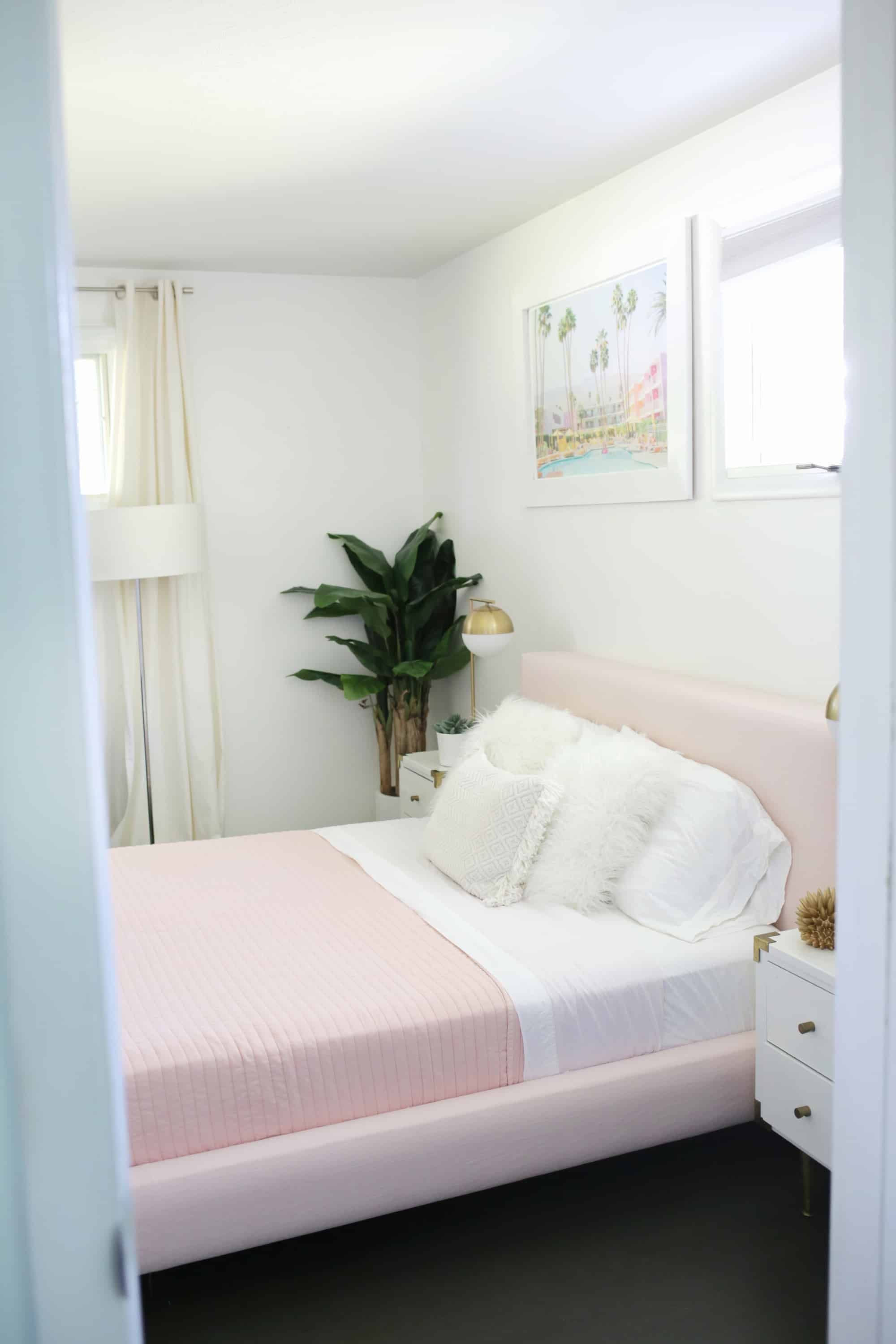 Reupholster Your Bed Frame In One Afternoon With A No Sew Option