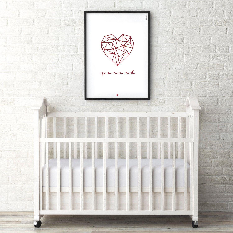 HEART + NAME - Diseñamos láminas, con marco negro o sin marco ...