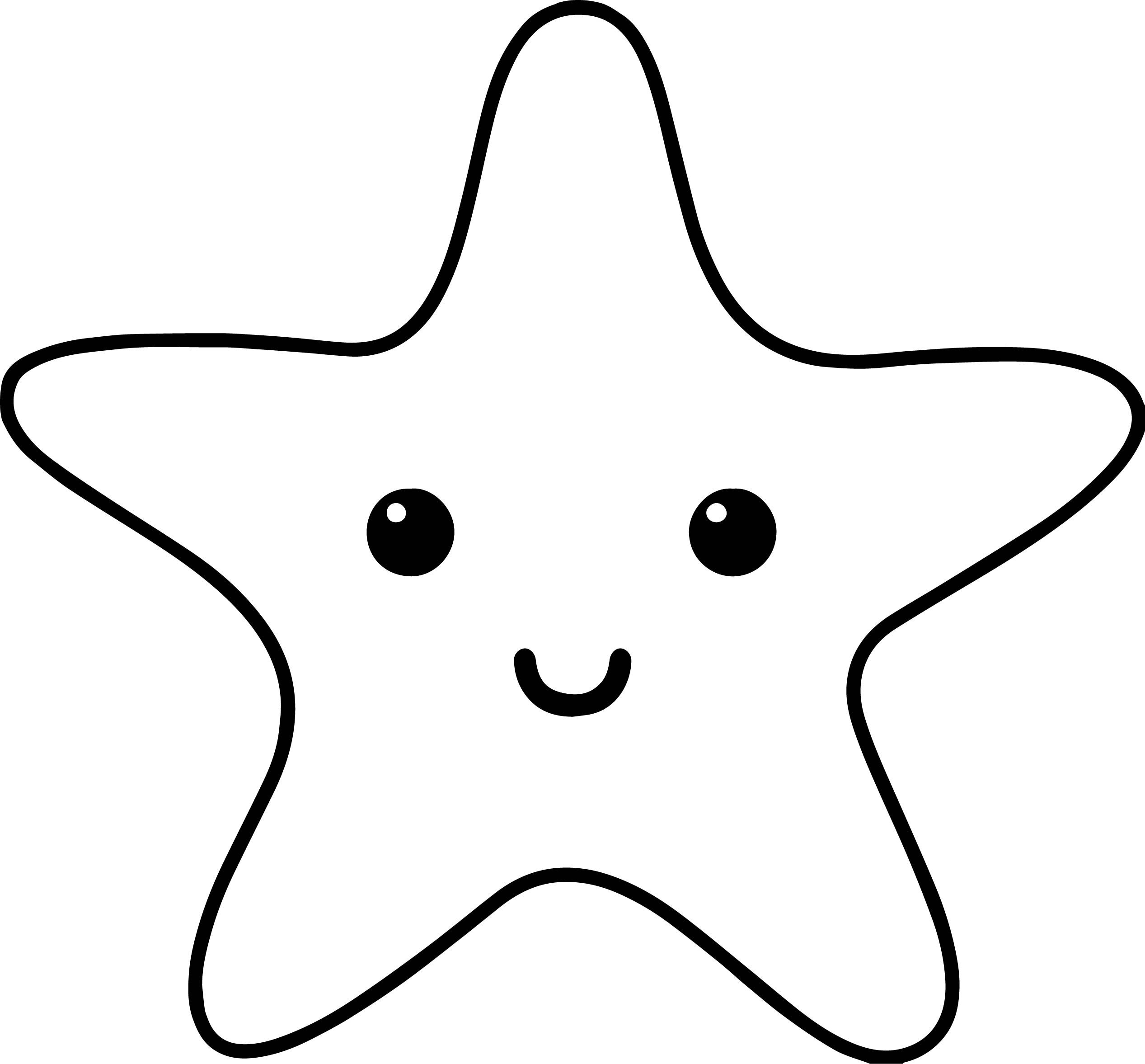 Cool Starfish Sea Creatures Coloring Page Fish Coloring Page Star Coloring Pages Starfish Drawing