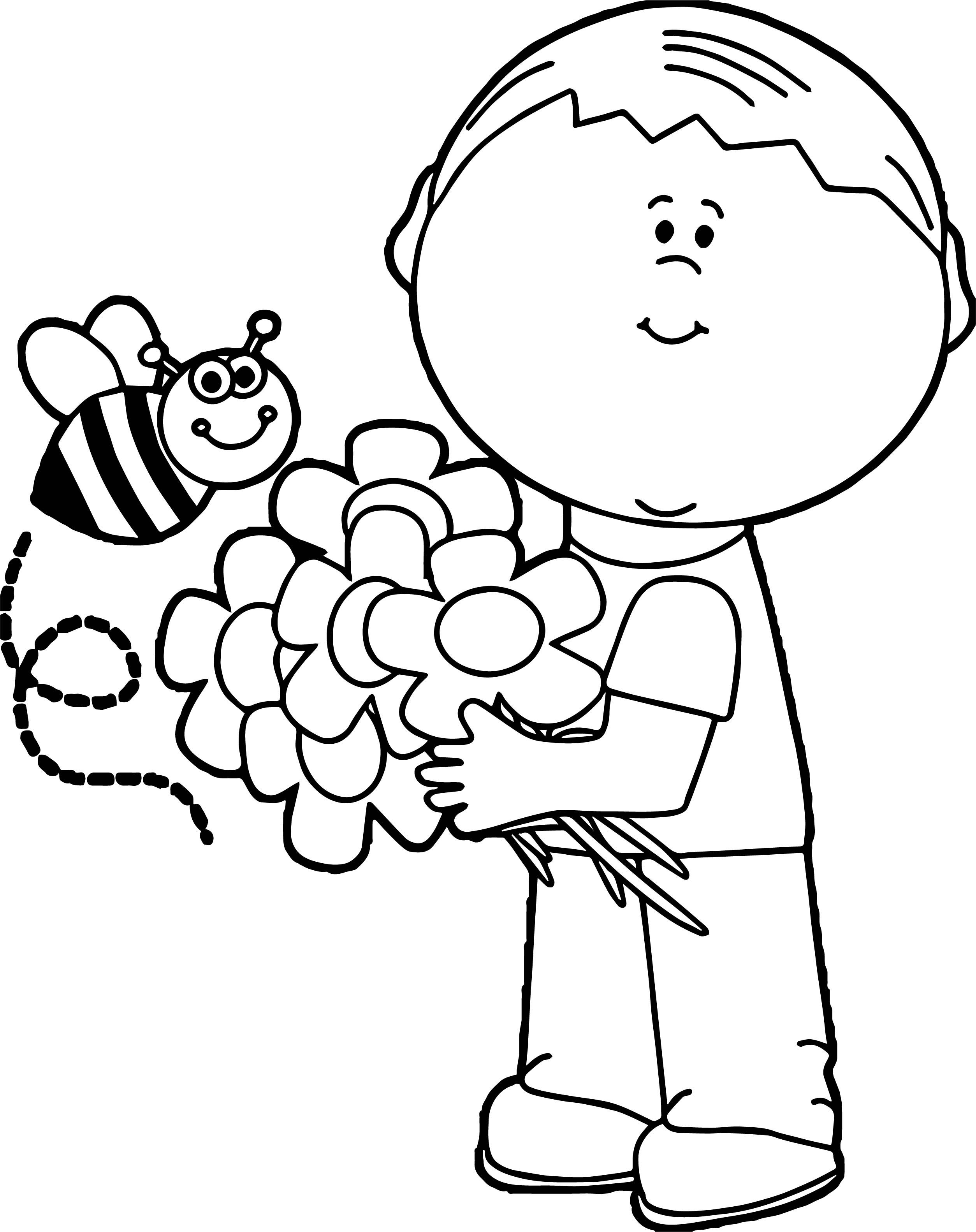 Cool Spring Boy Coloring Page Spring Coloring Pages Coloring