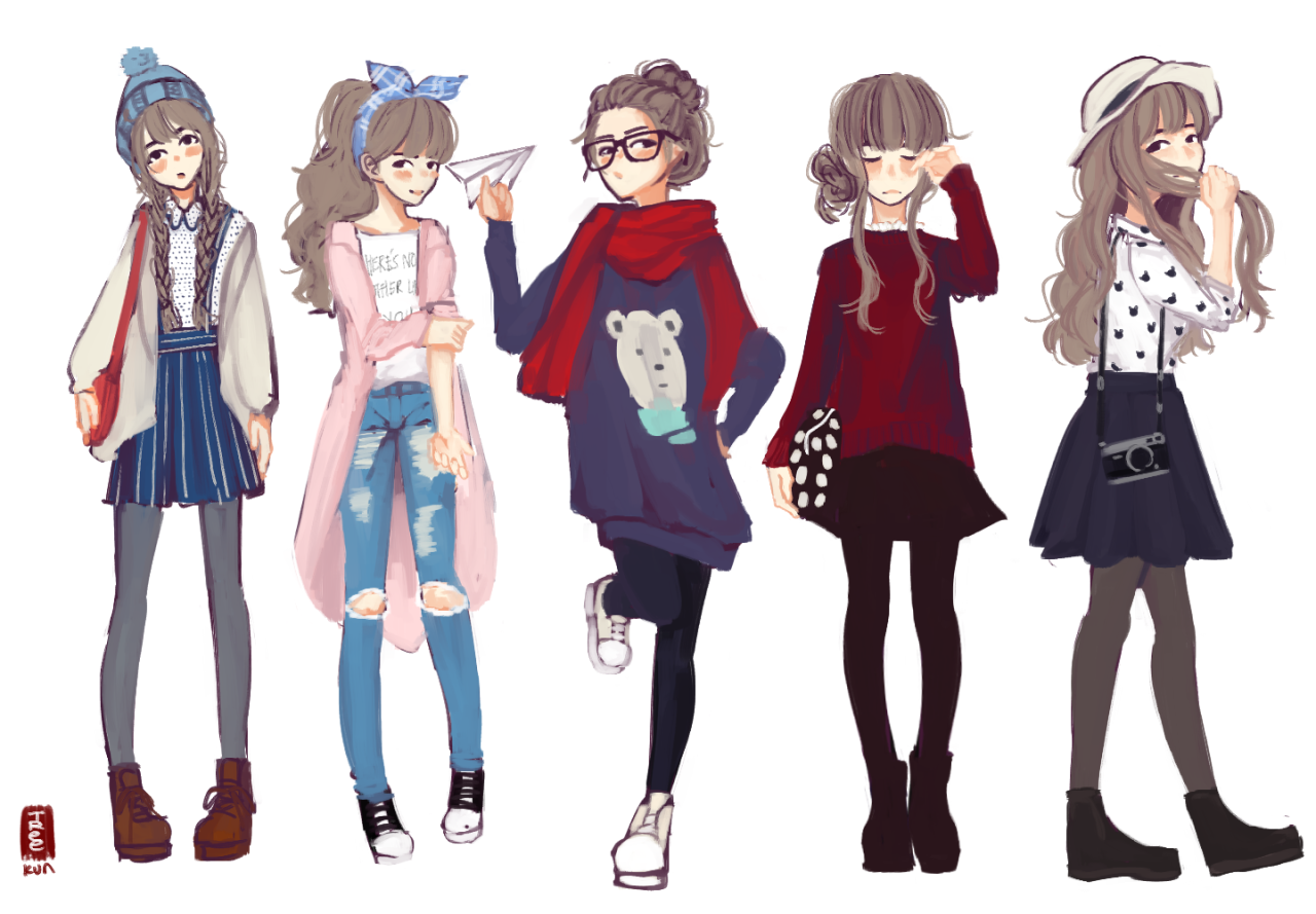 Tree-kun  Anime outfits, Fashion design drawings, Girls characters