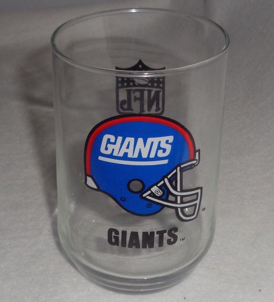 c18290b6d Vintage New York Giants Old Logo Helmet Drinking Glass~NFL Shield~Great  Shape