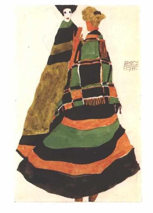 エゴン・シーレ 「 ポストカードのデザイン 」 1911