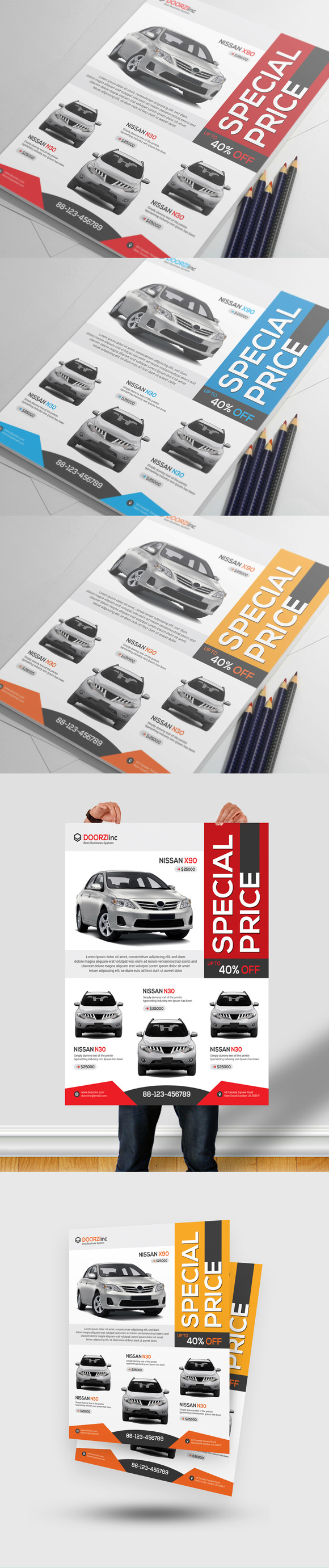 Car For Sale Flyer Car Sale Flyerorcshape On Creativemarket  Flyer Design .