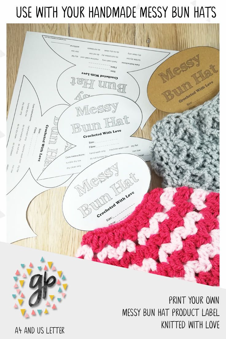 This is a photo of Printable Crochet Labels with regard to journaling