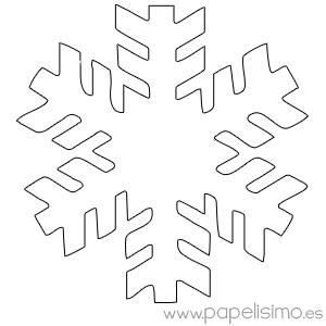 Manualidades fciles para nios en Navidad Copos de nieve para