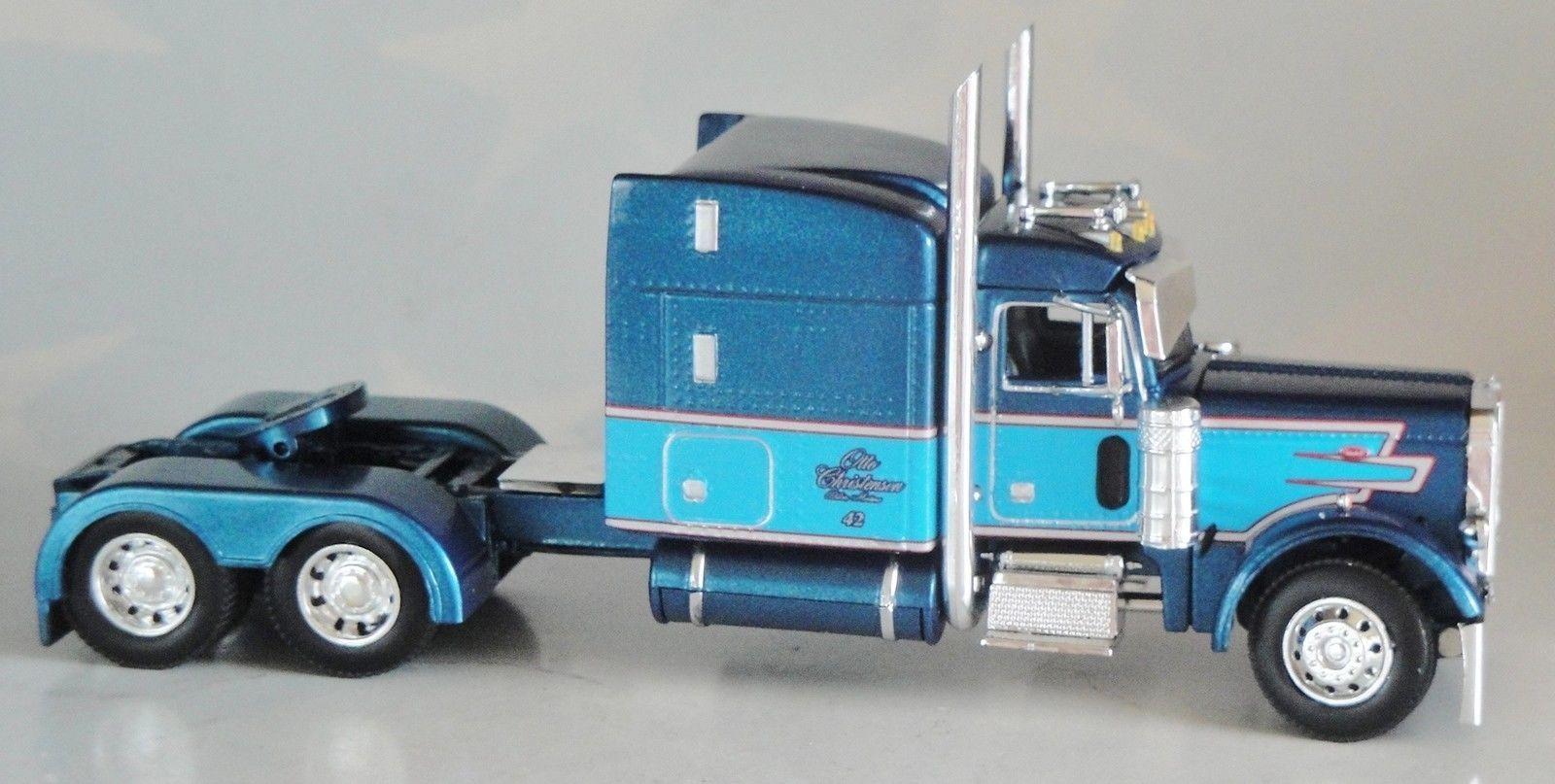 Dcp blue blue peterbilt 379 63 stand up sleeper cab only 1 64 diecast