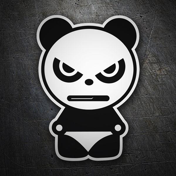 Pegatinas Oso Panda Enfadado Coche Pegatina Sticker Graffiti Doodles Spray Paint