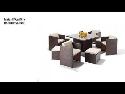 Richmond Garden Furniture Verano 4 Seater Cube Set -   news