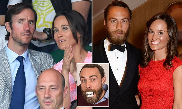 Pippa Middleton's fiance James Matthews (pictured together) invested in James Middleton's company Boomf, which prints Instagram pictures on marshmallows for £15 a box.