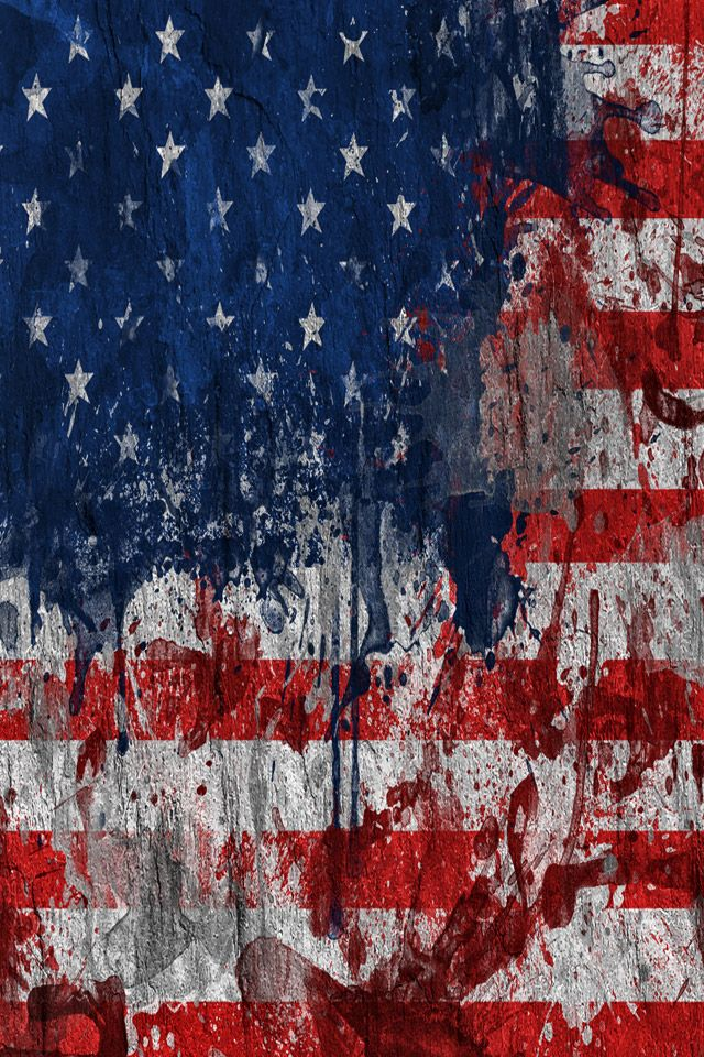 Tattered American Flag Computer Wallpaper Black And White
