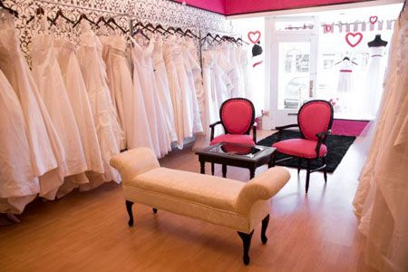 Bridal Consignment Boutique In Denver Pink Chairs