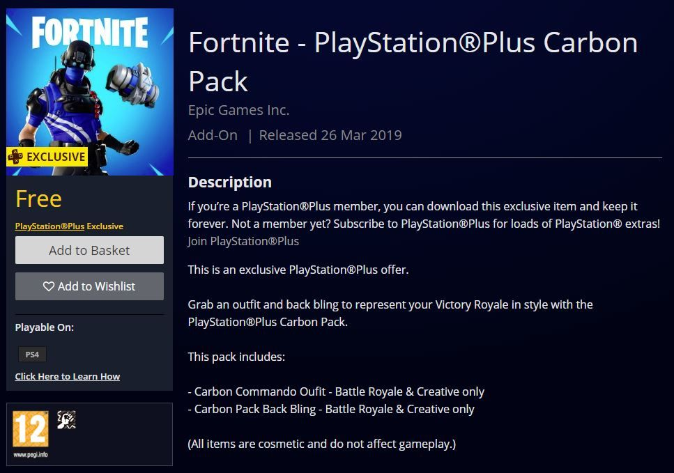 Fortnite Playstation Plus Carbon Pack Now Available In Select Regions Playstation Plus Members In Select Regions Can Fortnite Playstation Epic Games Account