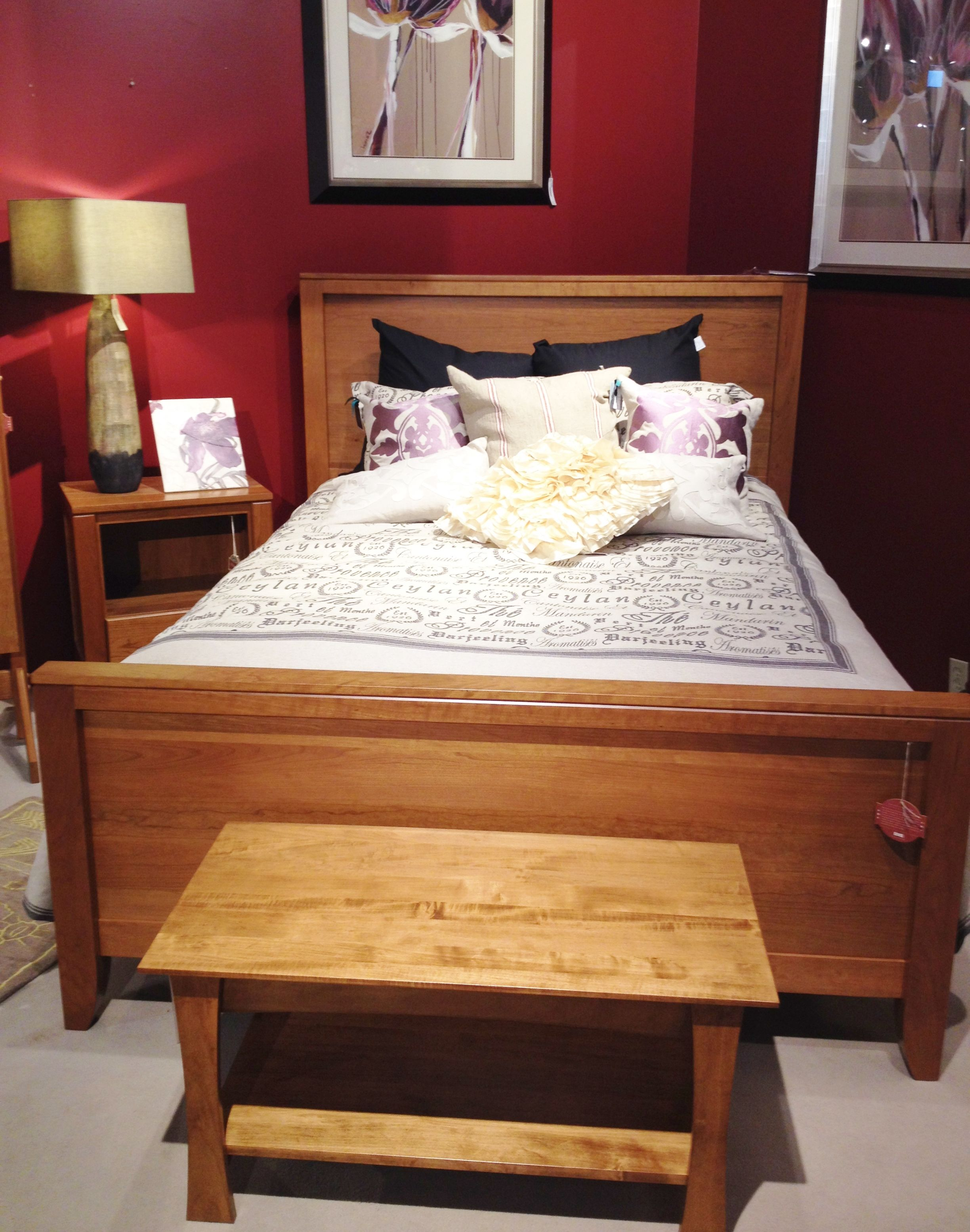 Solid Wood Bedroom Set With Matching Bench Nightstands And