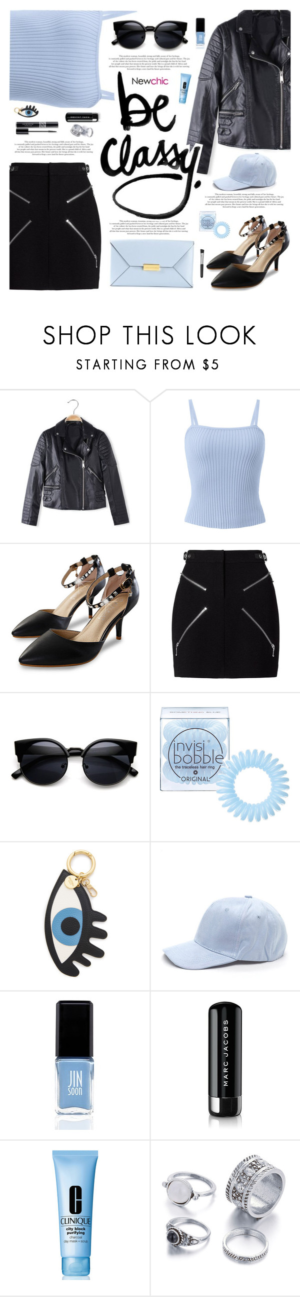 """Lovenewchic #23"" by katarinamm ❤ liked on Polyvore featuring Alexander Wang, STELLA McCARTNEY, Invisibobble, Iphoria, Christian Dior, JINsoon, Marc Jacobs, Clinique, Sephora Collection and motojackets"