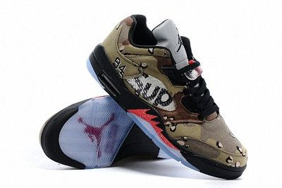 half off dd70a c24df 2018 Really Cheap Air Jordan 5 Low V camo Supreme Army Green