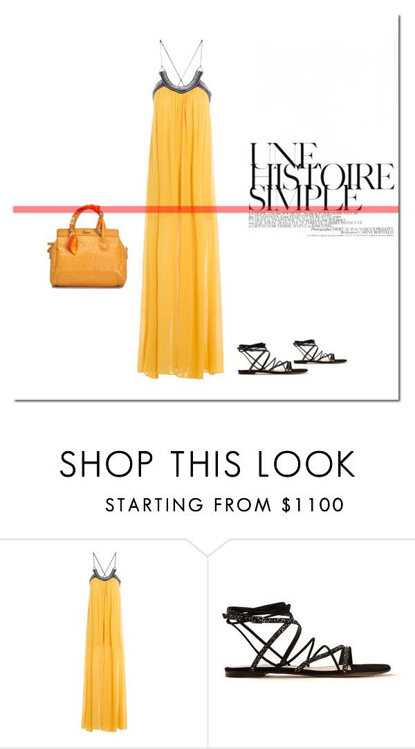 """""""Simple! TOP SET 04/03/2016."""" by tatajrj ❤ liked on Polyvore featuring Roberto Cavalli, Gianvito Rossi and Une"""