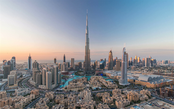Download Wallpapers Dubai, Burj Khalifa, 4k, Skyscrapers