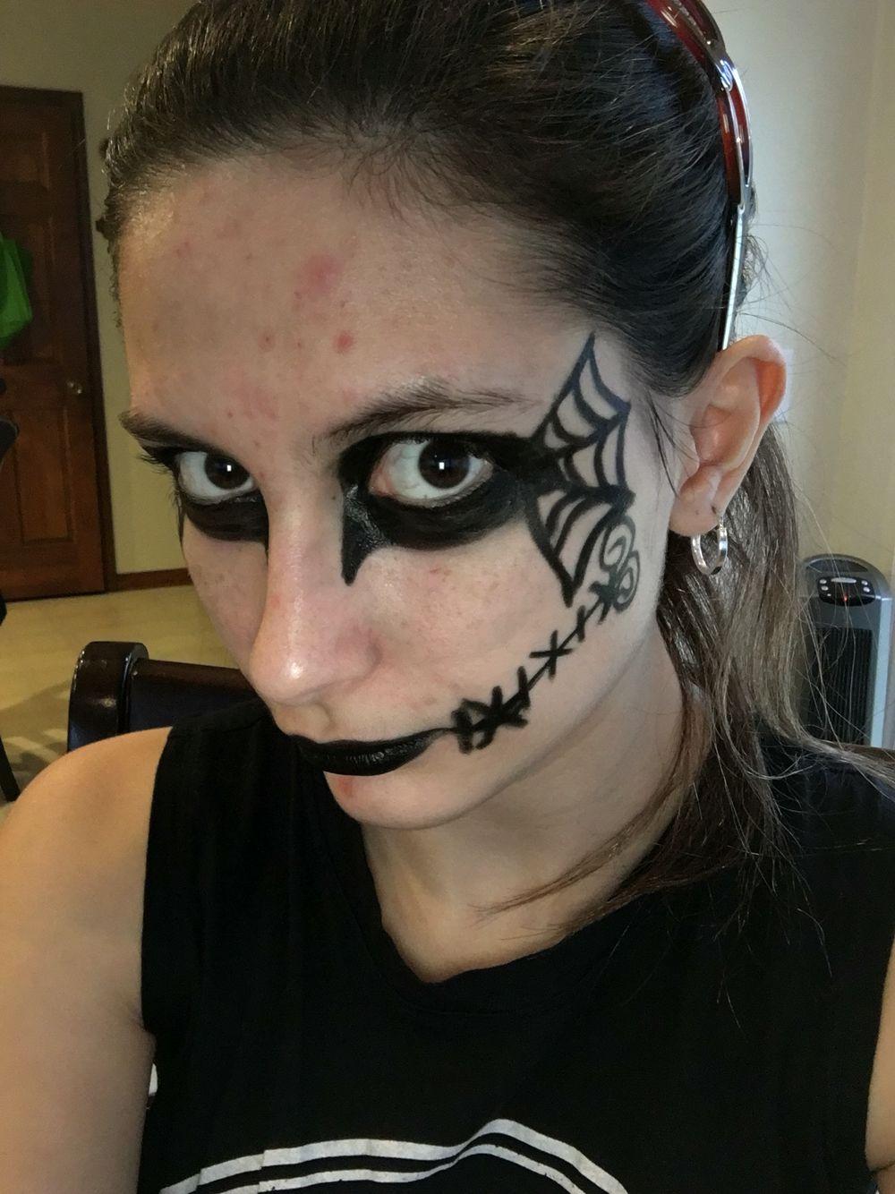 Jack Skellington inspired Makeup I did myself 😋 Face