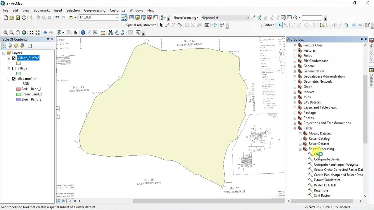 How to Clip a raster Image using shape file in Arc GIS | GIS