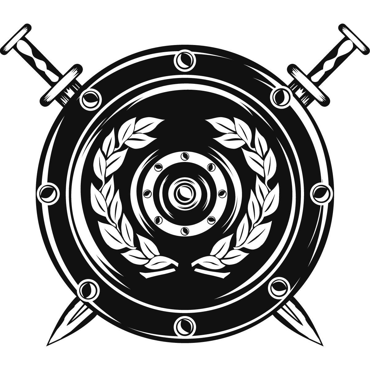 swordshieldwallartsticker22.jpg (1200×1200) Logo
