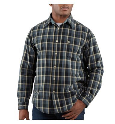 Carhartt - Product - Men's Washed Bellevue Plaid Slim Long-Sleeve Shirt