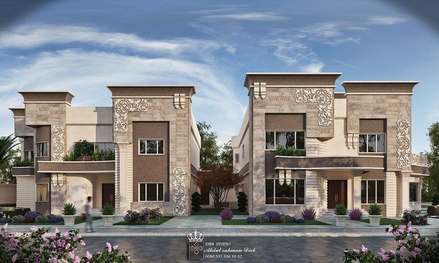 Strange Simple New Classic Villa On Behance Luxury Exterior Design Luxury Exterior Exterior Design