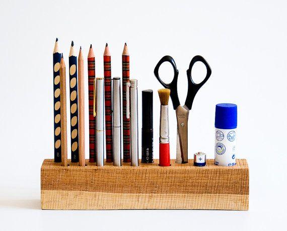 Office Organizer Pen Holder Pencil Holder Desk Organizer Wood