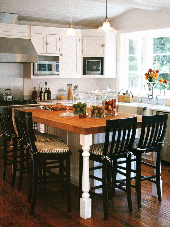 Butcher Block  Shape Of Island Island Legs  Home  Pinterest Stunning Butcher Block Kitchen Island Design Ideas