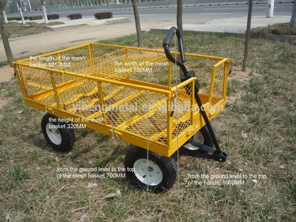 Wagon Garden Cart Nursery Trailer Heavy Duty Cart Tc4205e   Buy Heavy Duty  Golf Carts,Heavy Duty Push Cart,Heavy Duty Flat Cart Product On Alibaba.com