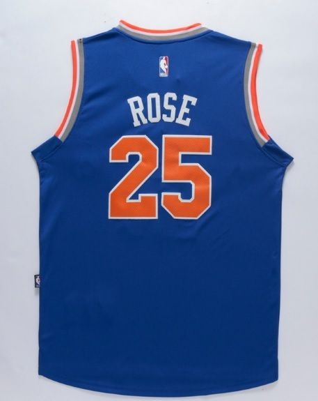best service 9ffec 096b3 New York Knicks 25 Derrick Rose Throwback Swingman ...