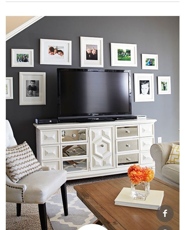 Love Love Love This In The Foyer Or Living Room No Tv I Can Definitely Do This Townhouse Decorating Home Decor Decor Around Tv