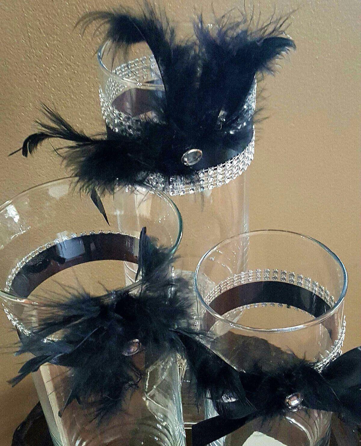 Wedding Centerpiece Vase Set! Great Gatsby! Winter ...