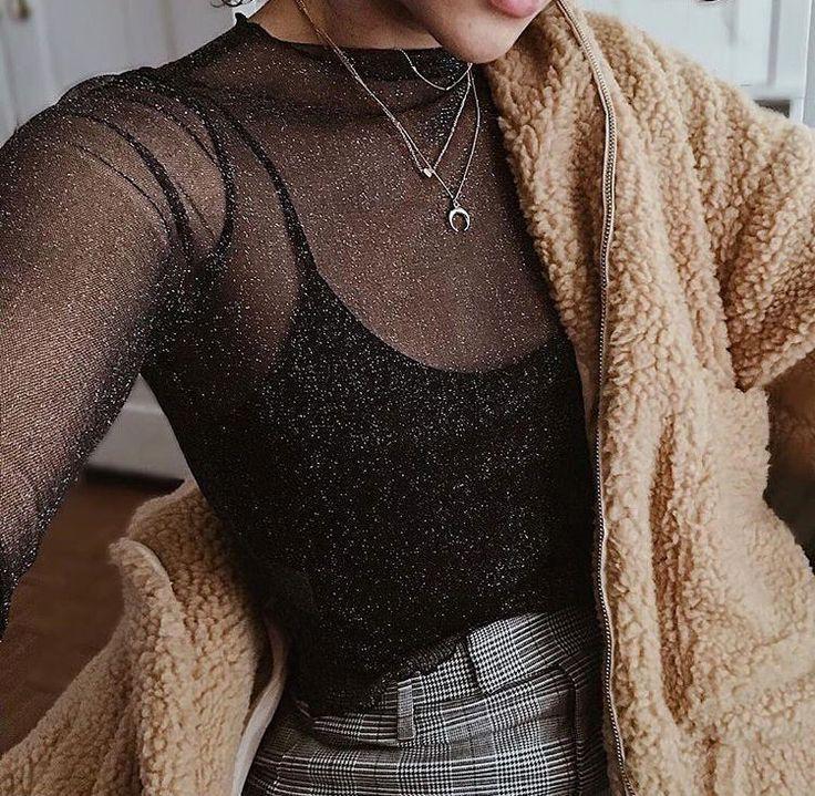 Photo of schwarze schiere Bluse und braune flauschige Jacke. Besuchen Sie Every day Gown Me bei dailydressme … – Wholesome Pores and skin Care