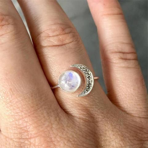 0df399d355d Indigo Moon Moonstone Opal Adjustable Ring in Silver | Rings | Rings ...