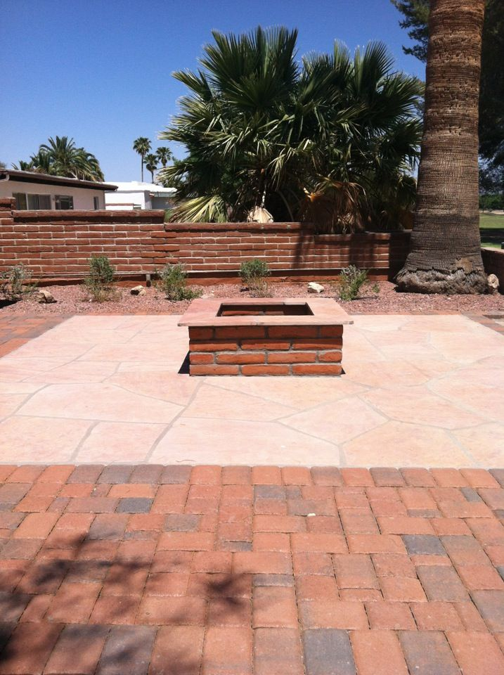 flagstone & brick fire pit | Outdoor fire pit designs ... on For Living Lawrence Fire Pit id=16231