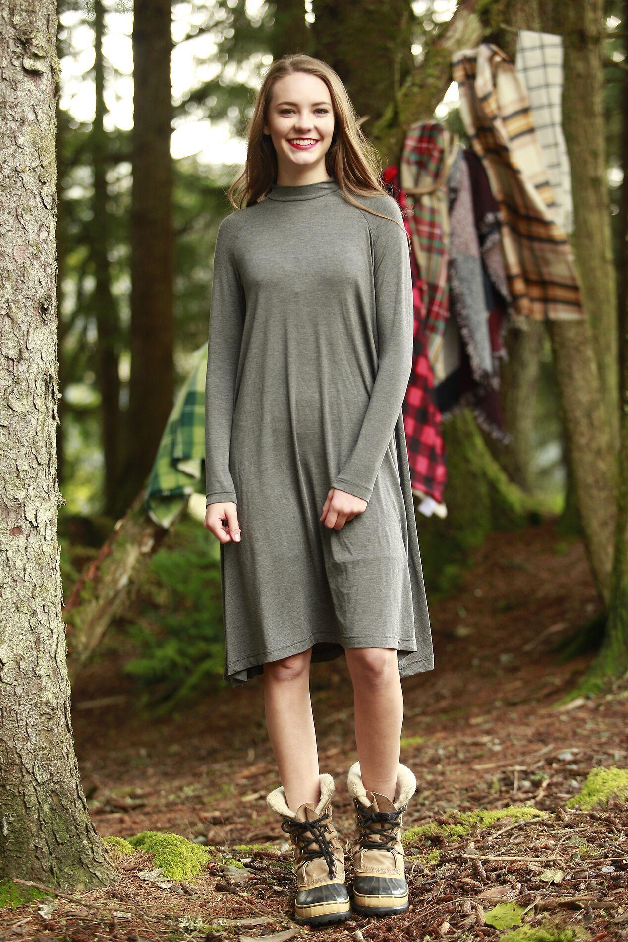 Livvy Swing Dress Grey