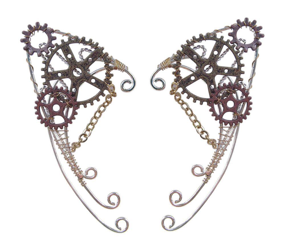 Gaslamp fantasy steampunk elf cuffs hair twisters elf ears and gaslamp steampunk elf cuffs renaissance elf ears hair twisters baditri Choice Image