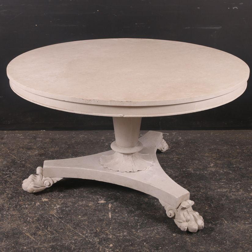 19th C Breakfast Table Read More:-  Large early 19th C painted breakfast table. 1830
