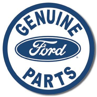 Vintage Style Round Tin Sign Genuine Ford Parts Man Cave Usa