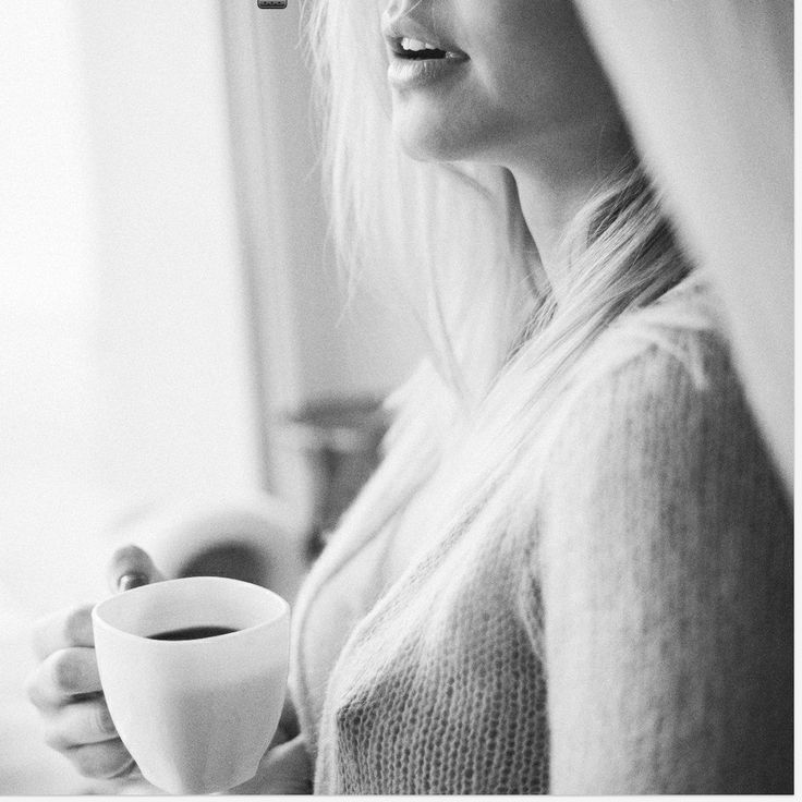 Beautiful girl with a cup of coffee stock photo