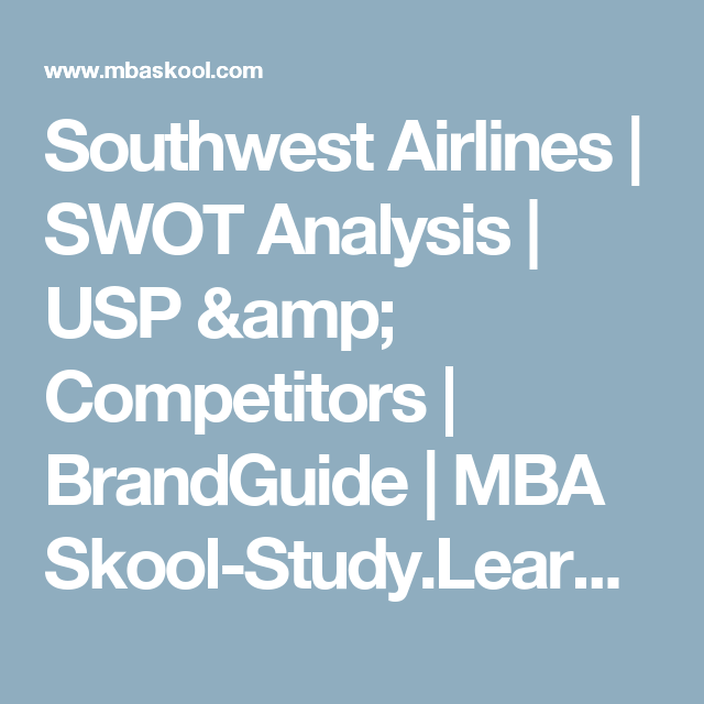 southwest swot analysis